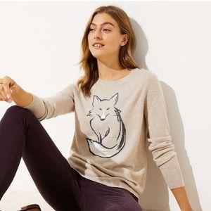 Ann Taylor LOFT Fox Sweater